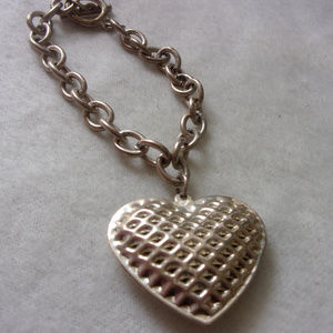 Jewelry - Boom Boom Boom big heart silver tone bracelet